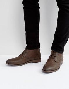 Коричневые ботинки чукка River Island - Коричневый