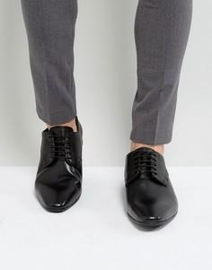 Черные кожаные туфли Pier One - Черный