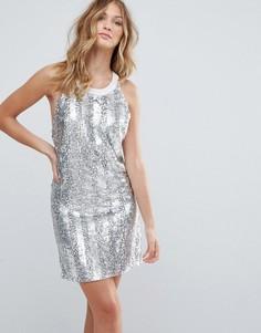 Платье-комбинация с декоративной отделкой Deby Debo Bocara - Бежевый