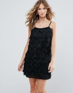 Коктейльное платье с бахромой Deby Debo Vegas - Черный