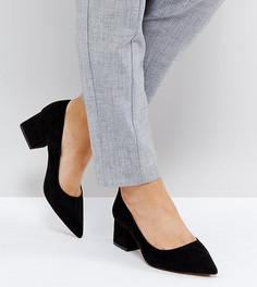 Туфли для широкой стопы на блочном каблуке средней высоты ASOS SIMPLY - Черный