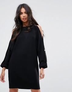 Платье-джемпер миди River Island - Черный