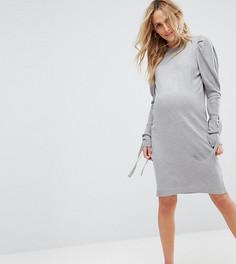 Вязаное платье с пышными плечами ASOS Maternity - Розовый