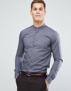 Супероблегающая строгая рубашка с воротником на пуговице Calvin Klein - Серый