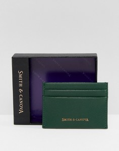 Зеленая кожаная кредитница Smith And Canova - Зеленый
