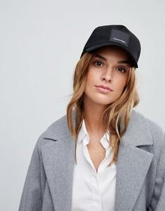 Замшевая кепка с логотипом Calvin Klein - Черный