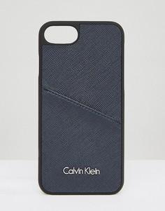 Чехол для Iphone 7 с логотипом Calvin Klein - Золотой