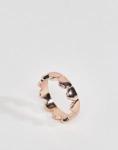 Кольцо с сердцем ASOS - Медный