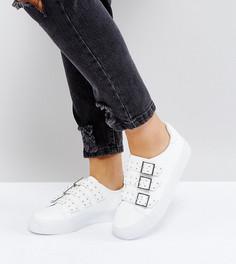 Кроссовки для широкой стопы с пряжками ASOS DEE - Белый