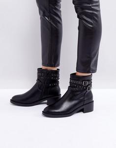 Черные ботильоны с заклепками Glamorous - Черный