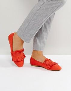 Красные лоферы с бахромой Glamorous - Красный