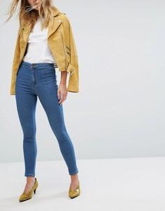 Выбеленные джинсы скинни Miss Selfridge - Черный