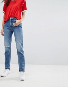 Рваные джинсы в винтажном стиле Weekday - Синий