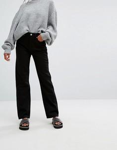 Укороченные джинсы в винтажном стиле с классической талией Weekday Voyage - Черный