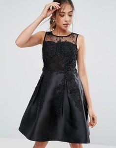 Платье для выпускного с кружевом Amy Lynn - Черный