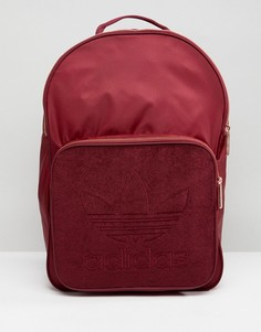 Бордовый рюкзак с золотистой фурнитурой adidas Originals - Красный