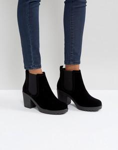 Ботинки челси на массивном каблуке Boohoo - Черный