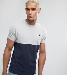 Темно-синяя футболка узкого кроя из пике в стиле колор блок Jack Wills Devonshire - Темно-синий