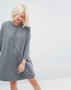 Платье в тонкую полоску Paul & Joe Sister - Серый