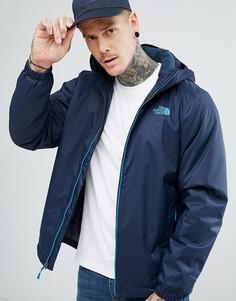 Непромокаемая утепленная куртка темно-синего цвета The North Face Quest - Темно-синий