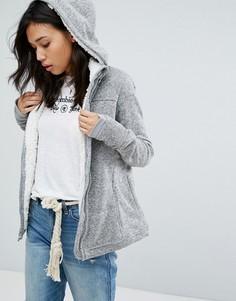 Куртка с подкладкой из искусственного меха Abercrombie & Fitch - Серый