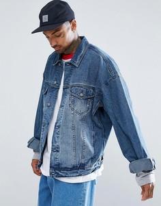 Свободная джинсовая куртка ASOS - Синий