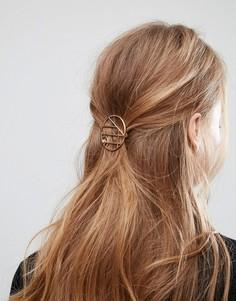 Круглая заколка для волос ASOS - Золотой