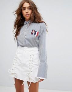 Рубашка в полоску Boohoo - Мульти