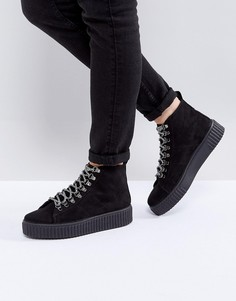 Походные ботинки ASOS ABSTRACT - Черный