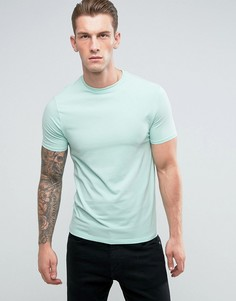 Светло-зеленая обтягивающая футболка River Island - Зеленый