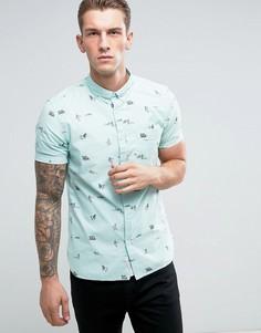 Зеленая узкая оксфордская рубашка с принтом River Island - Зеленый