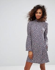 Платье с цветочным принтом и расклешенными рукавами Esprit - Мульти
