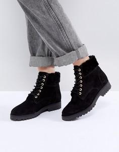 Замшевые походные ботинки Dune Perrinn - Черный