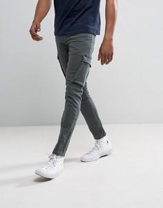 Зауженные джинсы-карго цвета хаки River Island - Зеленый