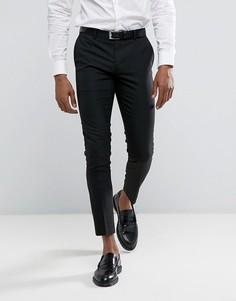 Черные супероблегающие брюки в строгом стиле River Island - Черный