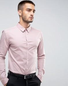 Розовая рубашка обтягивающего кроя River Island - Розовый