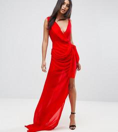 Платье макси с запахом Lioness - Красный