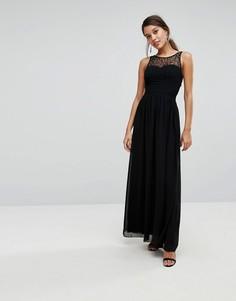 Платье макси с декорированным топом Little Mistress - Черный