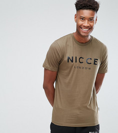 Зеленая футболка с логотипом Nicce London TALL - Зеленый