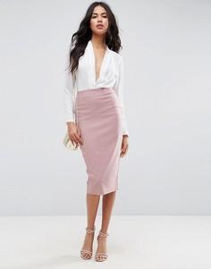 Длинная юбка-карандаш ASOS - Фиолетовый