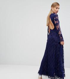 Платье макси с декоративной отделкой A Star Is Born - Темно-синий