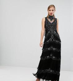 Платье макси с декоративной отделкой A Star Is Born - Черный