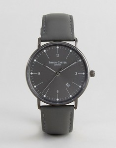 Часы с кожаным ремешком Simon Carter WT2201 - Серый