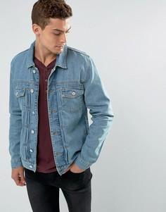 Синяя джинсовая куртка свободного кроя River Island - Синий