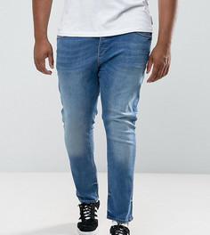 Выбеленные джинсы скинни River Island PLUS - Синий
