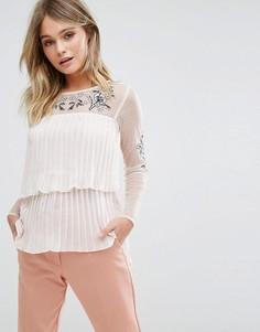 Блузка с вышивкой River Island - Кремовый