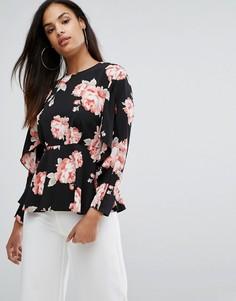 Блузка с цветочным принтом River Island - Мульти