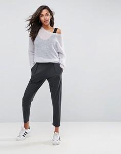 Широкие трикотажные брюки ASOS Ultimate - Серый