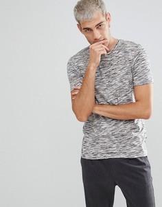 Меланжевая футболка с добавлением хлопка Selected Homme - Серый