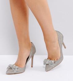 Туфли-лодочки для широкой стопы с декорированным бантом River Island - Золотой